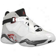 Jordan Aj 8.0 - Mens - White/varsity Red/neutral Grey/flint