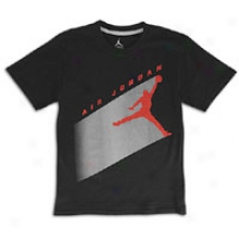 Jordan Aj Flight T-shirt - Great Kids - Back/silver/red