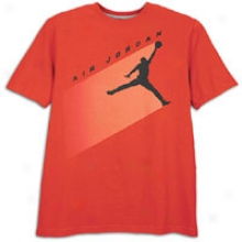 Jordan Aj Flight T-shirt - Mens - Varsity Red/melon Crush/team Orahge/black