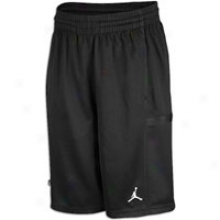 Jordan Bankroll Short - Big Kids - Black/black/white