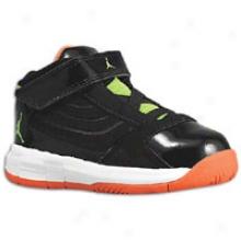 Jordan Big Ups - Toddlers - Black/electric Green/team Orange