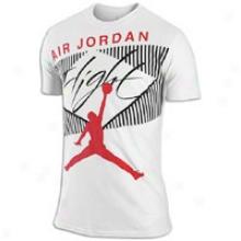 Jordan Classic Flight T-shirt - Mens - White/challenge Red