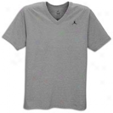 Jordan Core V-neck T-shirt - Mens - Dark Grey Heather/black