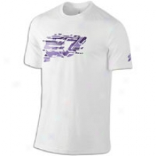 Jordan Cp3.v Logo Dri-fit T-shirt - Mens - White/varsity Purple