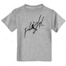 Jordan Cursive Flight T-shirt - Haughty Kids - Dark Grey Heather/black