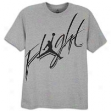 Jordan Cursive Flight T-shirt - Mens - Dark Grey Heather/black