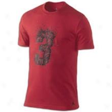 Jordan Dwade Logo Dri-fit T-shirt - Mens - Varsity Red/black