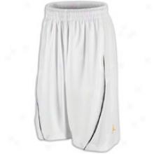 Jordan Dwade Short - Mens - White/black/del Sol