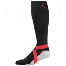 Jordan Dynamic Knee High Sock - Mens - Black/varsity Red
