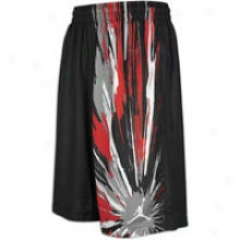 Jordan Explosion Short - Mens - Black/white/varsity Red