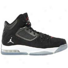 Jordan Flight 23 Rst - Mens - Black/gym Red