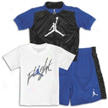Jordan Flight 3 Gun Set-  Infants - Varsity Royal/black/white