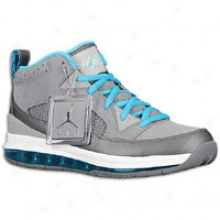 Jordan Volley 9 Max Rst - Mens - Cool Grey/current Blue/wolf Grey/white