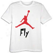 Jordan Fly Guy T-shirt - Mens - White/black/varsity Red