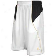 Jordan Fly Wade Short - Mens - White/black/del Sol