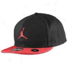 Jordan Flycon Fitted Cap - Meens - Black/varsity Red