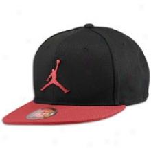 Jordan Flyc0n Fitted Cap - Mens - Black/varsity Red/varsity Red