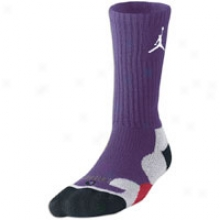 Jordan Gameday Crew Socks - Mesn - Club Purple/white