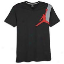 Jordan Graphic Jumpy V-neck T-shirt - Mens - Black/varsity Red