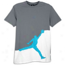 Jordan Jumbo Graphic Tee - Mens - Cool Grey/current Blue/white