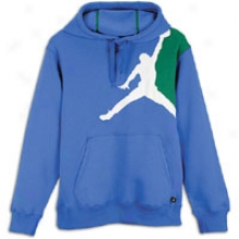 Jordan Jumbo Jumpman Pull Over Hoodie - Big Kids - Varsity Royal/pine Green/white