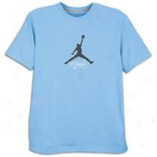 Jordan Jumpman Flight T-shirt - Mens - nUiversity Blue/obsidian/white