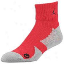 Jordan Low Quarter Sock - Mens - Varsity Red/black
