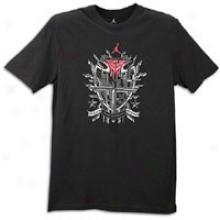 Jordan Melo Logo Dri-fit T-shirt - Mens - Black/blue Ribbon/orange Flash