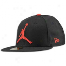 Jordan New Point of time 59fifty Jumbo Jumpman Fited Cap - Mens - Black/varsity Red