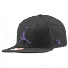Jordan New Epoch Jumbo Jumpman Snap Fit Cap - Mens - Black/concord