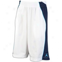 Jordan On The Block Short - Mens - White/obsidian/current Blue