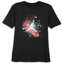 Jordan Painted Splatter Jumpman T-shirt - Mens - Black/action Red