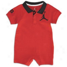 Jordan Polo Romper - Infants - Varsity Red/black