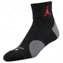 Jordan Pro Quarter Sock - Mens - Black/stealth/varsity Red