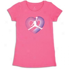Jordan Rainbow Heart T-shirt - Full Kids - Spark/white