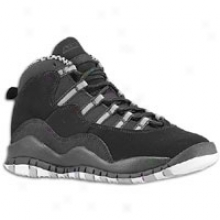 Jordan Retro 10 - Big Kids - Black/white/stealth