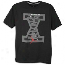 Jordan Retro 10 Fly T-shirt - Mens - Black/white/varsity Red