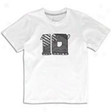 Jordan Retroo 10 Foiled T-shirt - Big Kids - White/cool Grey/cool Grey