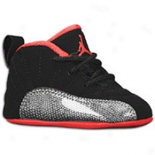 Jordan Retro 12 - Infants - Black/siren Red