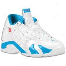 Jordan Retro 14 -L ittle Kids - White/siren Red/neptune Blue
