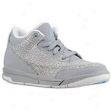 Jordan Retro 3 - Little Kids - Cool Grey/blue Glow