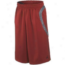 Jordan Retro 3 Short - Mens - Varsity Red/black