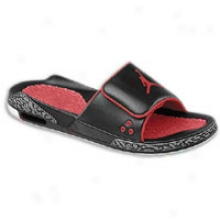 Jordan Retro 3 Slide - Mens - Black/varsity Red/cement Grey