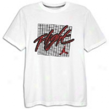 Jordan Retro 4 Flight T-shirt - Mens - White/black/varsity Red