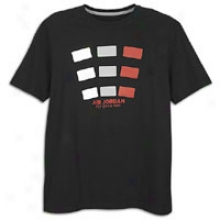 Jordan Retro 4 Fly Square T-shirt - Mens - Black/white/wolf Grey