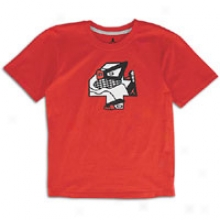 Jordan Retro 4 Foiled T-shirt - Big Kids - Varsity Red/white/black