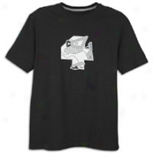 Jordan Retro 4 Foiled T-shirt - Mens - Black/white/varsity Red