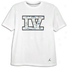 Jordan Retro 4 Legacy T-shirt - Mens - White/black
