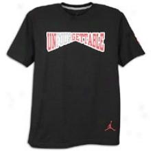 Jordan Retro 4 Unfourgettable T-shirt - Mens - Black/varsity Red/white