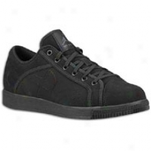Jordan Sky High Court Low Leatherr - Mens - Black/anthracite/black